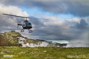 Is & Eld med heli